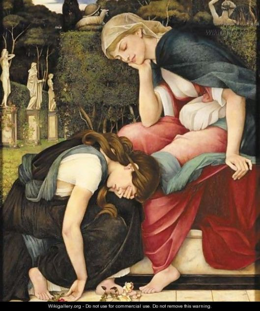 Patience on a monument smiling at grief by john roddam spencer